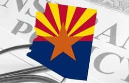 Arizona state outline on insurance document thumbnail